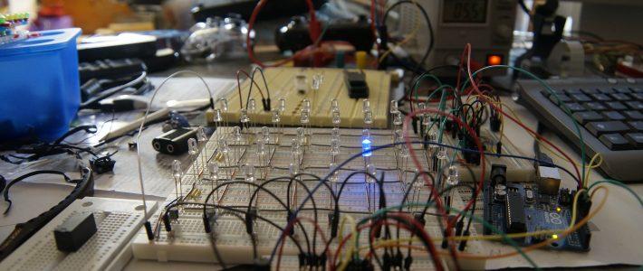 LED-Matrix mit Schieberegistern und Arduino
